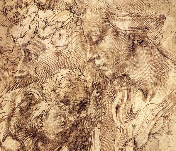 Эскизы Микеланджело