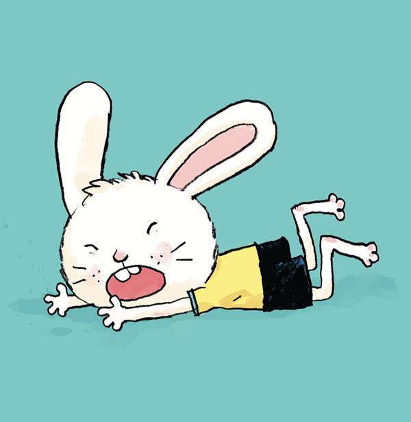 Зайчонок упал, и ему больно. Как помочь?