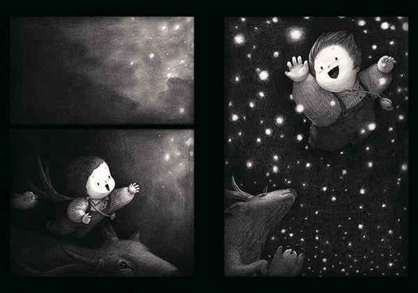 Одна маленькая девочка осталась дома одна.