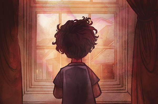 Рассказ в стихах о том, как мальчик с приближением ночи все сильнее волнуется из-за ночных чудовищ. Он просит защиты у ночных рыцарей.