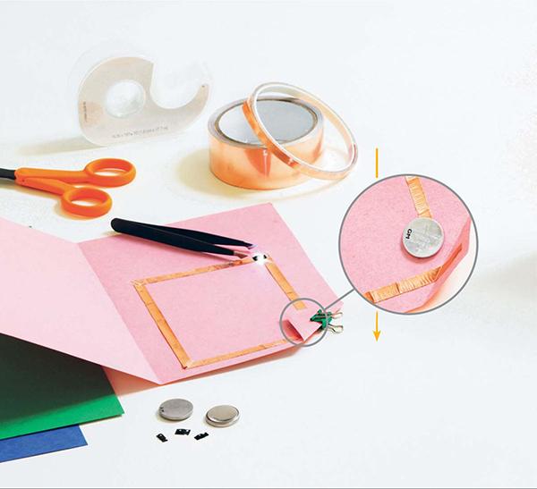 Сначала сложите лист бумаги пополам, чтобы получилась основа для открытки.