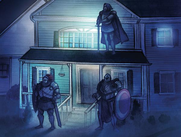 Крепко зажмурившись,  Громко зову:  «Рыцарь ночной! Появись наяву!