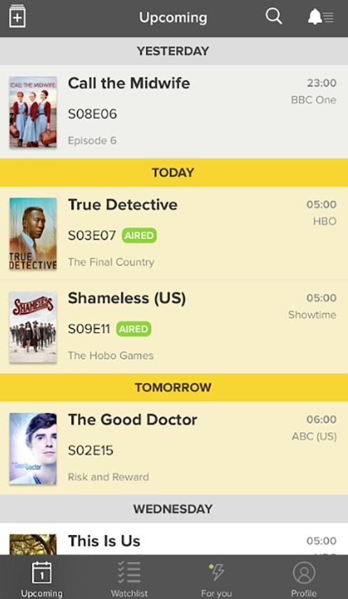 Приложение, которое следит за выходом новых серий вашего любимого сериала.