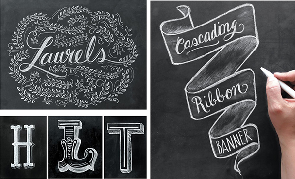 Вас ждут граненые, пухлые и угловатые буквы, надписи в стиле ретро, вестерн и старой афиши, буквы с завитушками и фразы из ленточек.
