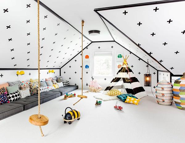 Детская — пространство для свободной игры, где ребенок может делать все, что вздумается.