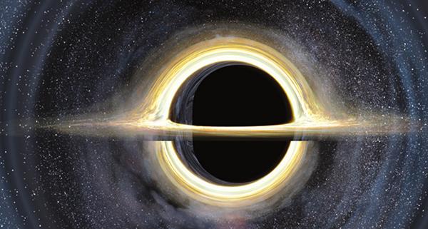 Тела с большой массой, например черные дыры, искривляют время и пространство.