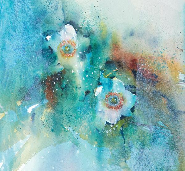Даже если цветы нарисованы реалистично, это не значит, что нельзя сделать абстрактный фон.