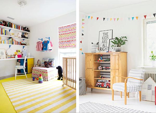 Комната может быть украшена яркими цветами и не выглядеть как детсад, просто приберегите цвет для акцентов.
