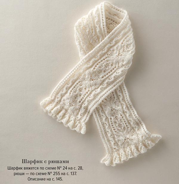 Ажурный легкий шарфик